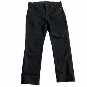 Ralph Lauren Premier Straight Crop Black Jeans 12